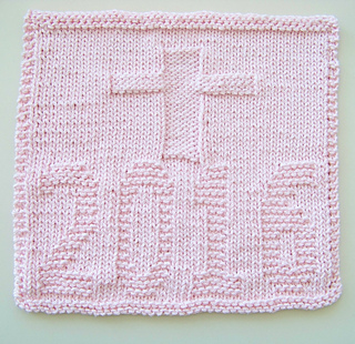Cot Blanket Knitting Pattern : Ravelry: Kitchen Dishcloth ~ 2016 with Cross pattern by Joan Laws
