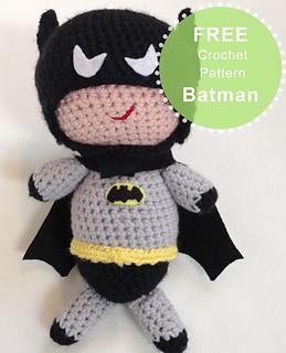 Batman Amigurumi Crochet Pattern Free : Ravelry: Cute Amigurumi Batman pattern by Joanne Lusher