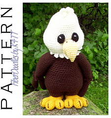 Amigurumi Gingerbread Man Free Pattern : Ravelry: SG013 - Palmer the Bald Eagle pattern by K4TT