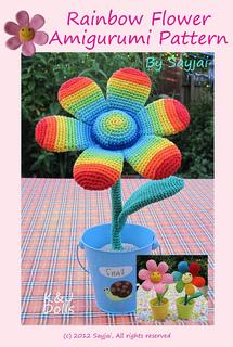 Ravelry: Rainbow Flowers Amigurumi pattern by Sayjai ...