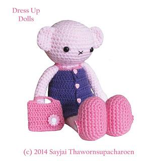 Amigurumi Dress Up Dolls : Ravelry: Bear Doll: Dress Up Dolls Amigurumi pattern by ...