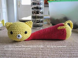 Amigurumi Cat Bus Pattern : Ravelry: Yellow Cat Wrist Rest pattern by Sayjai ...