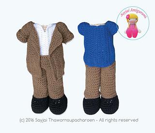 Amigurumi Jacket : Ravelry: Jacket with Trousers pattern by Sayjai ...