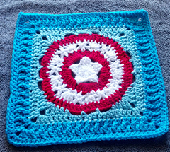 Patriots Crochet Afghan Pattern Free : Ravelry: Patriots Pride 12 inch square pattern by April ...