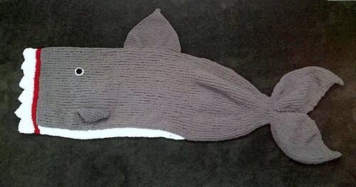 Ravelry: Shark Attack Blanket pattern by Kari Provencher