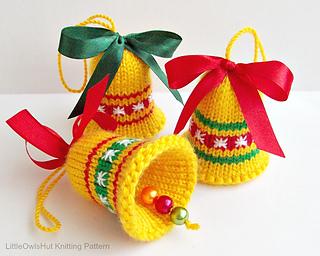 Neck Warmer Knit Pattern : Ravelry: 088 Bells Christmas decor pattern by LittleOwlsHut