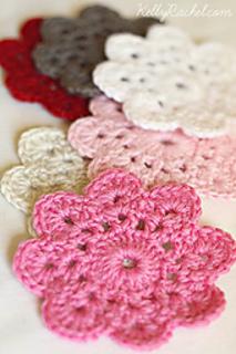 Free Online Crochet Patterns For Coasters : Ravelry: Flower Crochet Coasters pattern by Yvonne Eijkenduijn