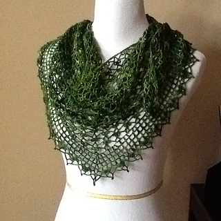 Crochet Patterns Lace Weight Yarn : Ravelry: Summer Sprigs Lace Scarf pattern by Esther Chandler