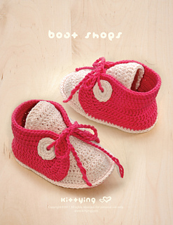 Ravelry: Baby Sneakers Boat Shoes pattern by Kittying Ying