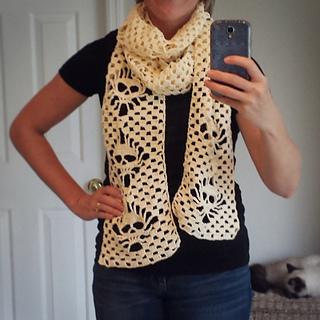 Crochet Pattern Skull Scarf : Ravelry: Narrow Crochet Skull Scarf pattern by Karin Kaufmann