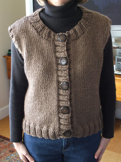 Ravelry: Button Front Crew Neck Vest pattern by Patons