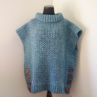 Ravelry: Amelia Poncho Adult Sweater pattern by Megan Meyer