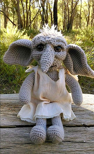 Knitting Pattern For Dobby The House Elf : Ravelry: LindaDavies Dobby the House Elf