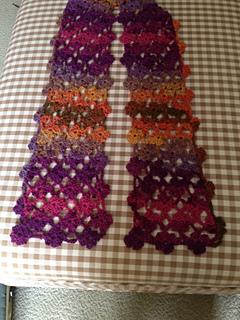 Ravelry: Crochet Flower Lattice Scarf pattern by Debi Dearest