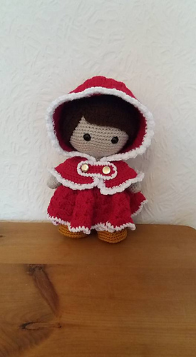 Ravelry Weebee Doll Hooded Holiday Cape Pattern By