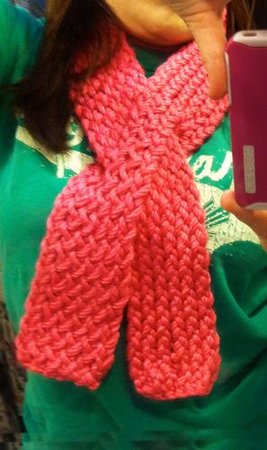 Keyhole Scarflette Knitting Pattern : Ravelry: Twisted Keyhole Scarflette pattern by Kristen Mangus