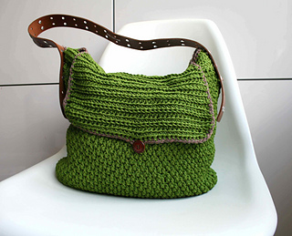 Ravelry Leather Handle Carry All Crochet Purse 178