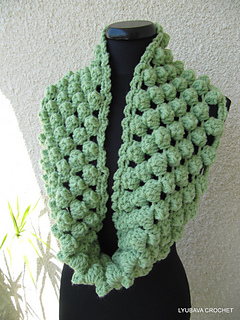 Crochet Scarf Patterns With Popcorn Stitch : Ravelry: Chunky Infinity Scarf Crochet Popcorn Stitch ...