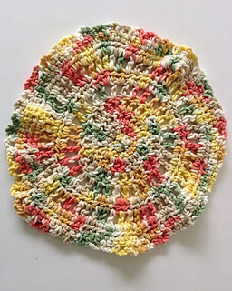 Crochet Patterns In The Round : patterns > Maggies Crochet > Maggies Crochet PB163, Dishcloth...