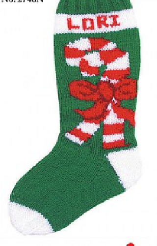 Ravelry Candy Cane Stocking Pattern By Mary Maxim