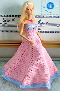 Ravelry Fashion Doll Strapless Gown Pattern By Maz Kwok