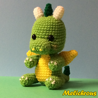 Ravelry: Drizzle the Dragon Pattern Crochet Amigurumi PDF ...