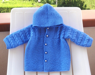Knitting Patterns For Baby Jacket With Hood : Ravelry: Hooded Baby Coat pattern by Filomena Lanzara