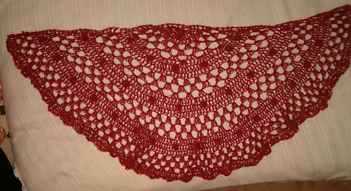 Ravelry: Half Moon Shawl #60274AD pattern by Lion Brand Yarn