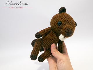 Amigurumi Woodland Animals Patterns : Ravelry: Amigurumi Woodland Critter Beaver pattern by ...