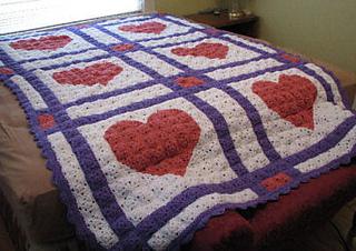 Ravelry: Love Letters Crochet Quilt pattern by C.L. Halvorson
