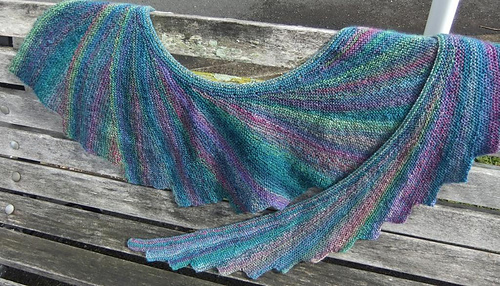 Ravelry: Dragons Tail Shawl pattern by Mishi Designs