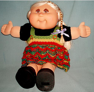 Knitting Pattern For Cabbage Patch Doll Clothes : Ravelry: Amber Cabbage Patch Kids doll clothes pattern by ...