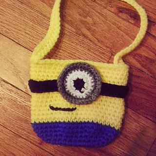 Crochet Minion Bag Pattern : Ravelry: Mini Minion Inspired Bag pattern by Sarina Renee ...