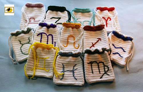 Ravelry: Signs of the Zodiac Tarot Bag pattern by Karen ...