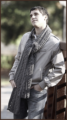 Ravelry Gentleman S Scarf Pattern By Nadia Fuad