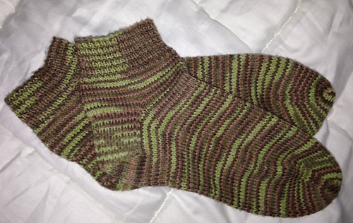Ankle Sock Knitting Pattern : Ravelry: Ankle Socks (knit) pattern by Bernat Design Studio