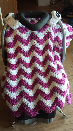 Ravelry Chunky Chevron Car Seat Canopy Cover Pattern By