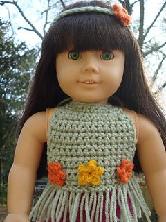 Free Crochet Pattern Boho Top : Ravelry: Boho Doll Top pattern by Charlotte W.
