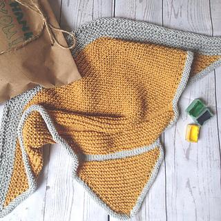Ravelry: Knitted Bandana Scarf for Kids pattern by Olya Yakushkina