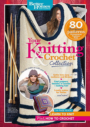 How To Make A Knitted Book Cover : Ravelry better homes and gardens australia your