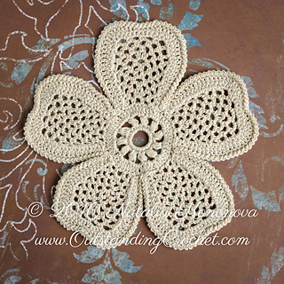 Free Crochet Patterns For Small Motifs : Ravelry: Flower and Branch Applique Set pattern by Natalia ...