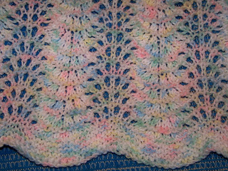 Fan And Feather Knitting Pattern For Baby Blanket : Ravelry: Feather & Fan Lace Baby Blanket pattern by ...