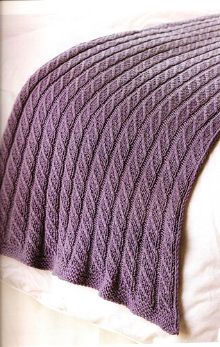 Ravelry Mock Cable Bed Runner Pattern By Denise Layman