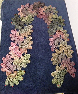ravelry lotus flower lace scarf pattern by miss nancy