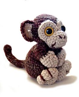 Cheeky Monkey Amigurumi Crochet Pattern : Ravelry: Amigurumi Monkey Oscar pattern by Kate E. Hancock