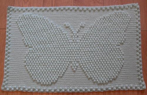 Puffy Crochet Baby Blanket Pattern : Ravelry: Butterfly Puff Baby Blanket pattern by Peach. Unicorn