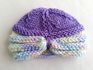 Knitting Pattern For Baby Turban : Ravelry: Knitted Baby Turban pattern by Mary Robinson