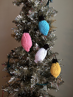 Knitting Pattern Christmas Lights : Ravelry: Knitted Christmas Lights pattern by PostStitch