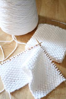Washcloth Knitting Patterns For Beginners : Ravelry: Beginner Seed Stitch Washcloth pattern by Liz Chandler