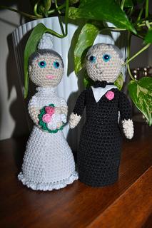 Ravelry: Amigurumi wedding couple pattern by Sandra ?hlberg